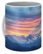 Colorado Rocky Mountain Sunset Waves Of Light Part 1 Coffee Mug