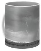 Colorado Rocky Mountains Foothills Lightning Strikes 2 Bw Coffee Mug