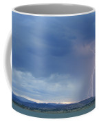Colorado Rocky Mountains Foothills Lightning Strikes Coffee Mug