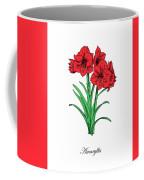 Colored Amaryllis. Botanical Coffee Mug