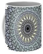 Colored Flower Zentangle Coffee Mug