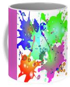 Colored Splashes On A Blue Background Coffee Mug