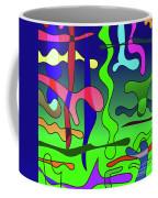 Colored Stripes On A Blue Background Coffee Mug