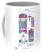 Colorful 1889 First Computer Patent Coffee Mug by Nikki Marie Smith
