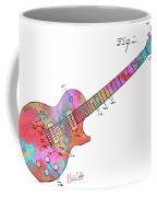 Colorful 1955 Mccarty Gibson Les Paul Guitar Patent Artwork Mini Coffee Mug by Nikki Marie Smith