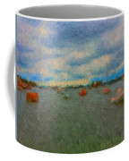 Colorful Boats On Cloudy Day At Boothbay Harbor Coffee Mug
