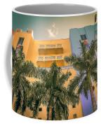 Colorful Building And Palm Trees Coffee Mug