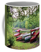 Colorful Canoes At Hungry Mother State Park Coffee Mug