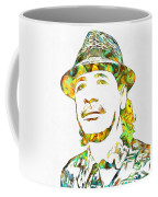 Colorful Carlos Santana Coffee Mug