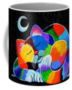 Colorful Cat In The Moonlight Coffee Mug
