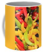 Colorful Chili Peppers  Coffee Mug