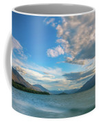 Colorful Clouds At Golden Hour On Lake Wakatipu At Glenorchy, Nz  Coffee Mug