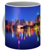 Colorful Cn Tower  Coffee Mug