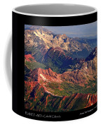 Colorful Colorado Rocky Mountains Planet Art Poster  Coffee Mug
