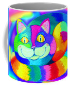 Colorful Crazy Cat Coffee Mug