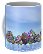 Colorful Eggs For Easter - 3d Render Coffee Mug