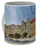 colorful facades on Market Square or Ryneck of Wroclaw Coffee Mug