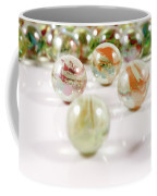 Colorful Glass Marbles Close-up Views Coffee Mug