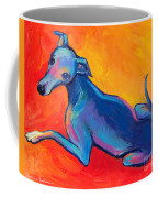 Colorful Greyhound Whippet Dog Painting Coffee Mug