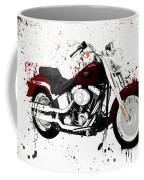Colorful Harley Davidson Paint Splatter Coffee Mug