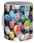 Colorful Key West Lobster Buoys Coffee Mug by John Stephens