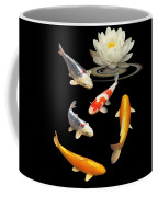 Colorful Koi With Water Lily Coffee Mug