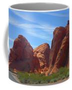 Colorful Landscape Rock Mountains Of Overton Nevada  Coffee Mug