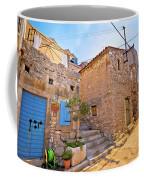 Colorful Mediterranean Stone Street Of Prvic Island Coffee Mug