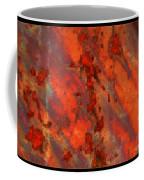 Colorful Metal Abstract With Border Coffee Mug