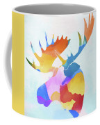 Colorful Moose Head Coffee Mug