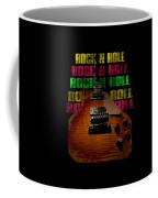Colorful Music Rock N Roll Guitar Retro Distressed  Coffee Mug