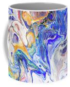 Colorful Night Dreams 5. Abstract Fluid Acrylic Painting Coffee Mug