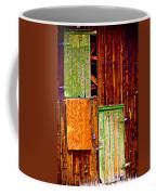 Colorful Old Barn Wood Coffee Mug