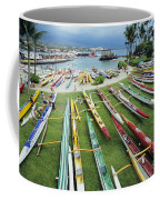 Colorful Outrigger Canoes Coffee Mug