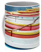 Colorful Outrigger Canoes Coffee Mug
