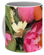 Colorful Paper Flower Blossoms  Coffee Mug