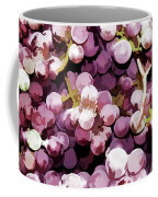 Colorful Pink Tasty Grapes In The Basket Coffee Mug