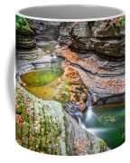 Colorful Pool In The Gorge Of Watkins Glen Coffee Mug