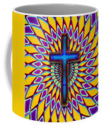 Colorful Retro Cross Coffee Mug