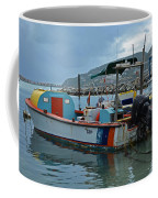 Colorful Saint Martin Power Boat Caribbean Coffee Mug
