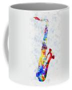 Colorful Saxophone Coffee Mug