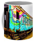 Colorful Skunk Train Passenger Car Coffee Mug