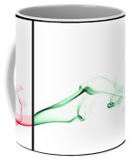 Colorful Smoke II - Rgb Triptych Coffee Mug