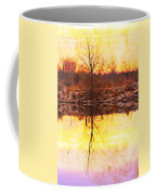 Colorful Sunrise Textured Reflections Coffee Mug