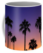 Colorful Tropical Palm Tree Sunset Coffee Mug