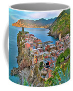 Colorful Vernazza From Behind Coffee Mug