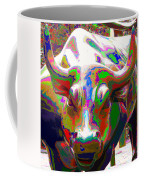 Colorful Wall Street Bull Coffee Mug
