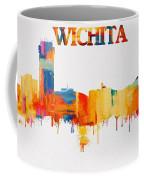 Colorful Wichita Skyline Silhouette Coffee Mug