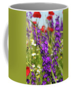 Colorful Wild Flowers Spring Scene Coffee Mug