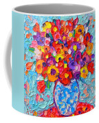 Colorful Wildflowers - Abstract Floral Art By Ana Maria Edulescu Coffee Mug